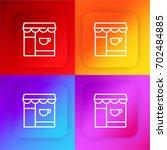 coffee shop four color gradient ...