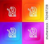 circus lion four color gradient ...