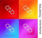 frame four color gradient app...