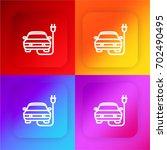 electric car four color...