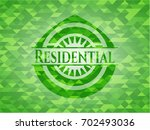 residential green emblem with... | Shutterstock .eps vector #702493036