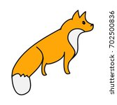 red fox pattern on a white... | Shutterstock .eps vector #702500836