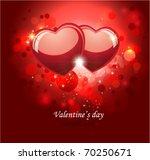 valentine red background. | Shutterstock .eps vector #70250671