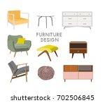 vector interior design ...   Shutterstock .eps vector #702506845