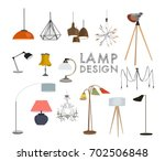 vector lighting lamp... | Shutterstock .eps vector #702506848