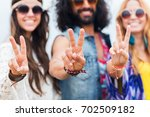 youth culture  gesture and...   Shutterstock . vector #702509182