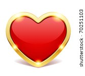 red heart vector illustration... | Shutterstock .eps vector #70251103