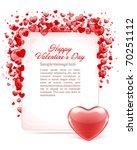 valentine's day frame vector... | Shutterstock .eps vector #70251112