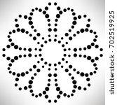 ornamental round dotted flower... | Shutterstock .eps vector #702519925