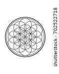 simple spiritual flower of life ... | Shutterstock .eps vector #702522718