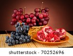 pomegranate and vine on the... | Shutterstock . vector #70252696