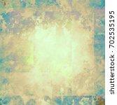 colorful scratched vintage... | Shutterstock . vector #702535195