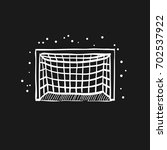 football goal post icon in... | Shutterstock .eps vector #702537922