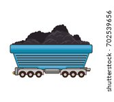 wagon loaded icon | Shutterstock .eps vector #702539656