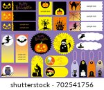 a set of various happy... | Shutterstock .eps vector #702541756
