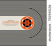 movie and film modern retro... | Shutterstock .eps vector #702543136