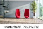 modern bright interiors. 3d... | Shutterstock . vector #702547342