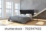 modern bright interiors. 3d... | Shutterstock . vector #702547432