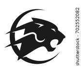 panther vector logo. | Shutterstock .eps vector #702552082