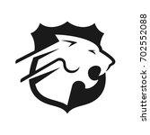 panther vector logo. | Shutterstock .eps vector #702552088
