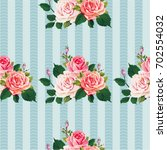 seamless floral pattern with... | Shutterstock .eps vector #702554032