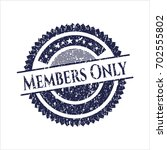 blue members only distressed...   Shutterstock .eps vector #702555802
