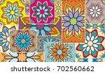 vector patchwork quilt pattern. ... | Shutterstock .eps vector #702560662