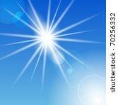 The Sun In The Sky. Vector.