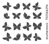 butterflies set. vector | Shutterstock .eps vector #702566296
