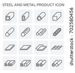 vector line icon of steel pipe... | Shutterstock .eps vector #702580456