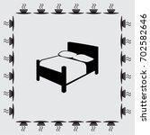 bed vector icon | Shutterstock .eps vector #702582646