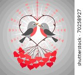 love birds | Shutterstock .eps vector #70258927