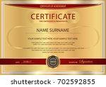 certificate  diploma of... | Shutterstock .eps vector #702592855