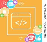 code editor icon | Shutterstock .eps vector #702596176