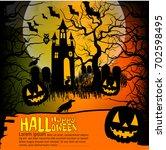 halloween background. vector... | Shutterstock .eps vector #702598495