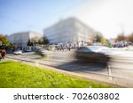 daily busy traffic in the city  | Shutterstock . vector #702603802