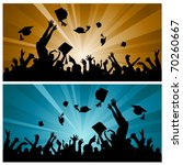 graduation party | Shutterstock .eps vector #70260667