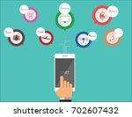 infographic mobile  | Shutterstock .eps vector #702607432