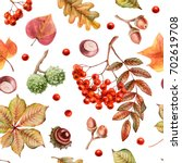 watercolor seamless pattern of... | Shutterstock . vector #702619708