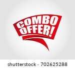 combo offer labels banners | Shutterstock .eps vector #702625288