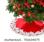 beautiful christmas tree with... | Shutterstock . vector #702634075