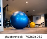gym for fitness exercises with... | Shutterstock . vector #702636052