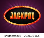 golden jackpot text on marquee... | Shutterstock .eps vector #702639166