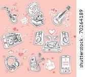 music instrument and equipment... | Shutterstock .eps vector #70264189