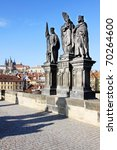 Baroque Statues On The Prague...