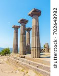 ruins of the temple of athena... | Shutterstock . vector #702648982