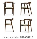 design wooden leather seat... | Shutterstock . vector #702650218