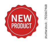 new product label  seal ... | Shutterstock .eps vector #702667468