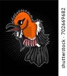 anis merah bird | Shutterstock .eps vector #702669682