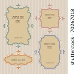 set of retro frames design.... | Shutterstock .eps vector #70267018